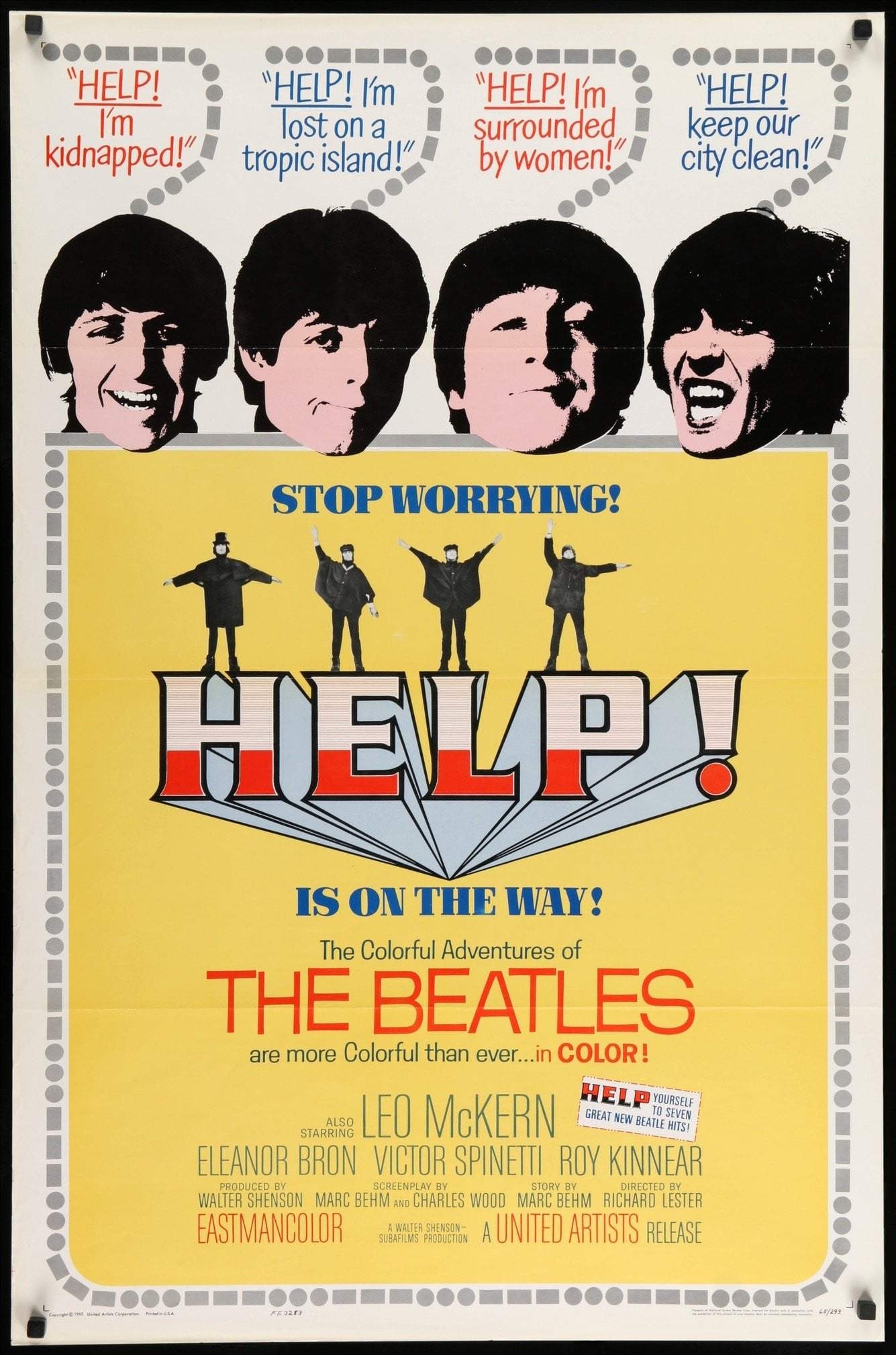 help 1965 original film art 5000x